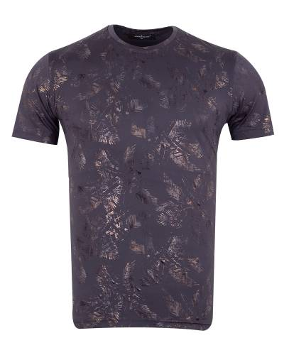 MAKROM - Luxury Patterns Printed Short Sleeved T-Shirt TS 1237 (Thumbnail - )