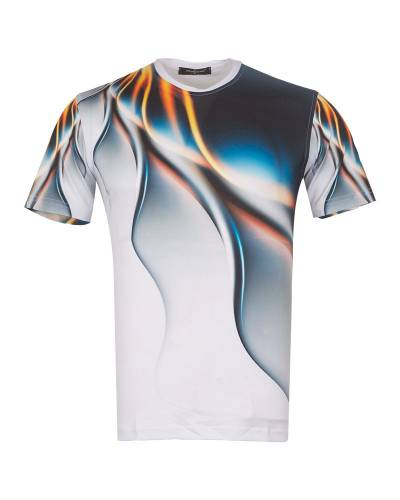 MAKROM - Patterns Printed Short Sleeved T.Shirt TS 1267 (Thumbnail - )