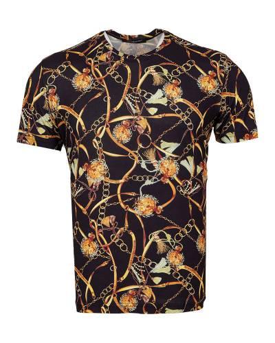 MAKROM - Patterns Printed Short Sleeved T.Shirt TS 1280 (Thumbnail - )