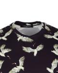 Patterns Printed Short Sleeved T.Shirt TS 1281 - Thumbnail