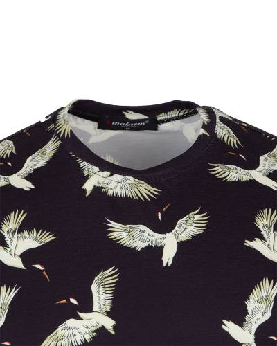 Patterns Printed Short Sleeved T.Shirt TS 1281