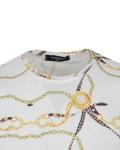Patterns Printed Short Sleeved T.Shirt TS 1283 - Thumbnail