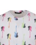 Patterns Printed Short Sleeved T.Shirt TS 1284 - Thumbnail