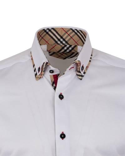 MAKROM - Plain Collar Contrast Mens Shirt SL 7188 (1)