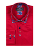 Double Collar Plain Mens Long Sleeved Mens Shirt With Details SL 6769 - Thumbnail