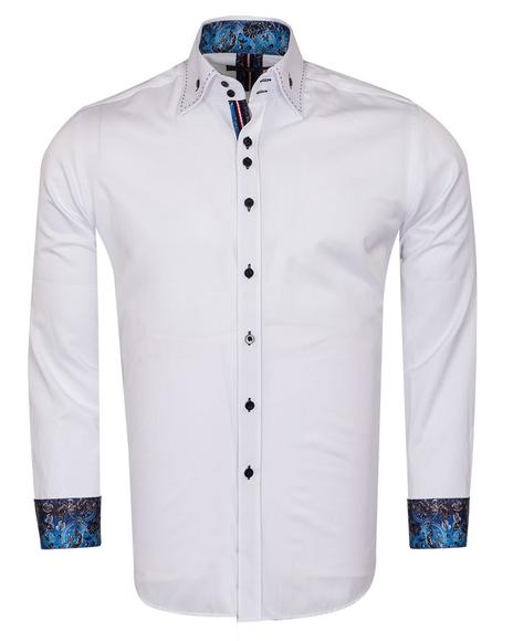 Plain Mens Shirt With Collar Contrast SL 6832