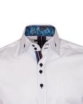 Plain Mens Shirt With Collar Contrast SL 6832 - Thumbnail