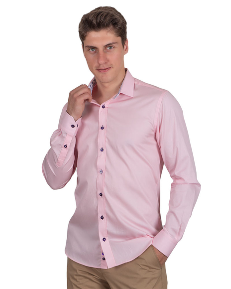 Oscar Banks - Plain Shirt With Details SL 6655