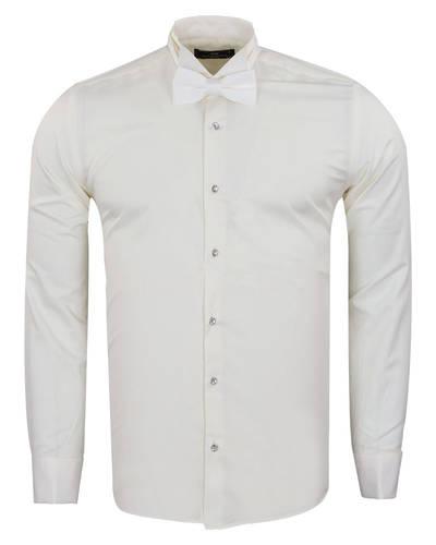 MAKROM - Plain Wing Collar Mens Shirt SL 7030