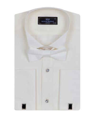 MAKROM - Plain Wing Collar Mens Shirt SL 7030 (1)