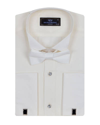 MAKROM - Plain Wing Collar Mens Shirt SL 7030 (1)