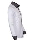 Polka Dot Printed Long Sleeved Mens Shirt SL 6801 - Thumbnail