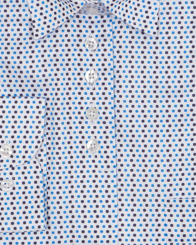 MAKROM - Polka Dot Printed Womens Shirt LL 3310 (1)