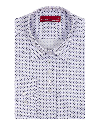 MAKROM - Polka Dot Printed Womens Shirt LL 3310 (Thumbnail - )