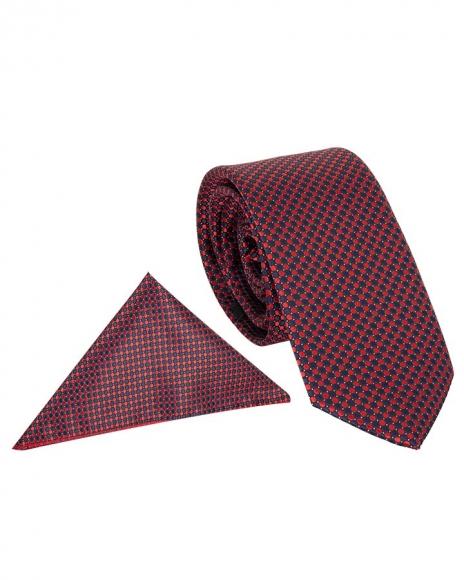 MAKROM - Polka Dot Textured Quality Necktie KR 12 (1)