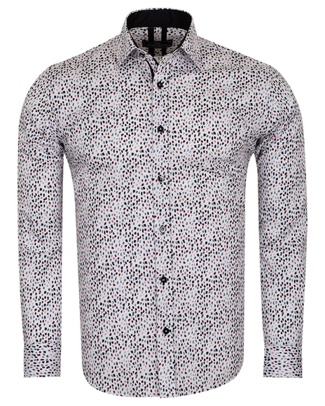MAKROM - Printed Long Sleeved Mens Shirt SL 6805