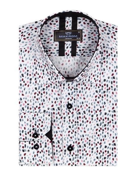 MAKROM - Printed Long Sleeved Mens Shirt SL 6805 (1)