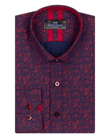 Printed Long Sleeved Mens Shirt SL 6808