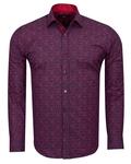 Printed Long Sleeved Mens Shirt SL 6808 - Thumbnail