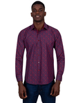 Paisley Printed Long Sleeved Mens Shirt SL 6808 - Thumbnail