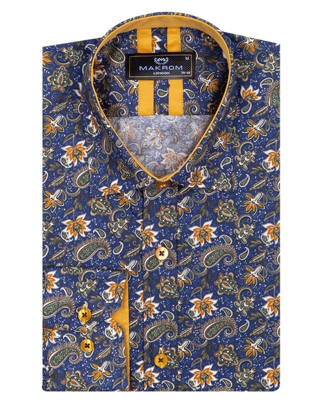 Paisley Printed Long Sleeved Mens Shirt SL 6809