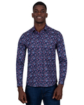 Paisley Printed Long Sleeved Mens Shirt SL 6809 - Thumbnail