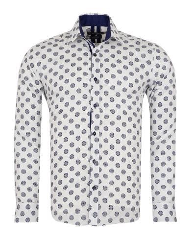 Oscar Banks - Printed Long Sleeved Mens Shirt SL 7171