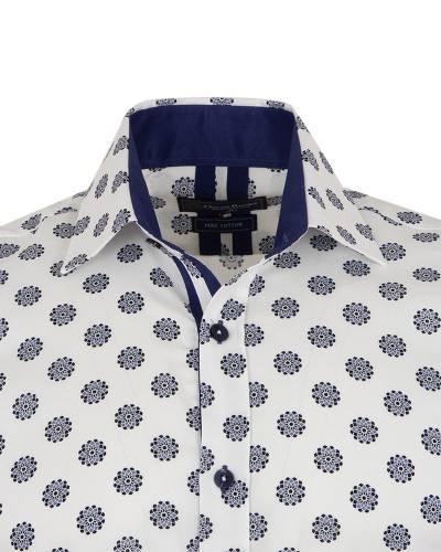 Oscar Banks - Printed Long Sleeved Mens Shirt SL 7171 (1)
