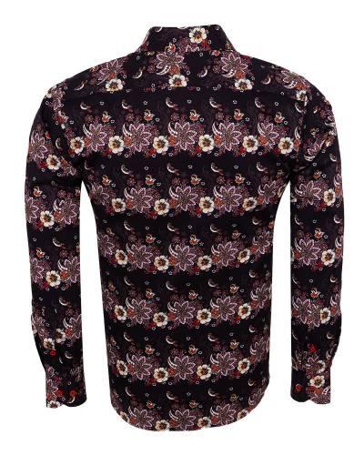 Oscar Banks - Printed Long Sleeved Mens Shirt SL 7174 (1)