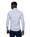 Printed Makrom Long Sleeved Double Collar Mens Shirt SL 6815 - Thumbnail
