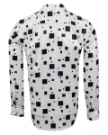 Luxury Printed Mens Satin Shirt SL 7140 - Thumbnail