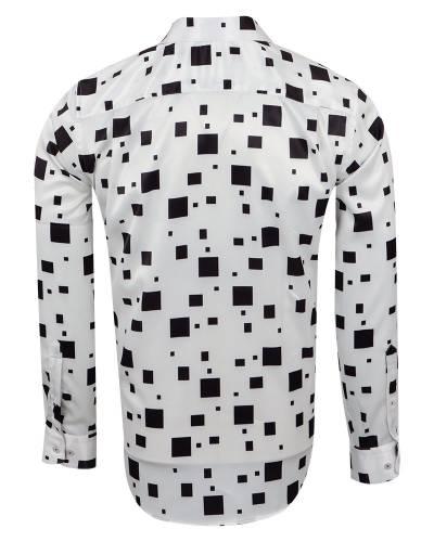 Luxury Printed Mens Satin Shirt SL 7140