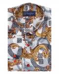 Printed Mens Satin Shirt SL 7143 - Thumbnail