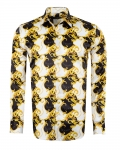Printed Mens Satin Shirt SL 7145 - Thumbnail