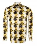 Printed Mens Satin Shirt SL 7145 - Thumbnail