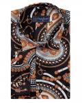 Printed Mens Satin Shirt SL 7146 - Thumbnail