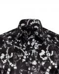 Printed Mens Satin Shirt SL 7148 - Thumbnail