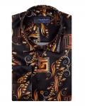 Printed Mens Satin Shirt SL 7151 - Thumbnail