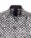 Printed Mens Satin Shirt SL 7160 - Thumbnail