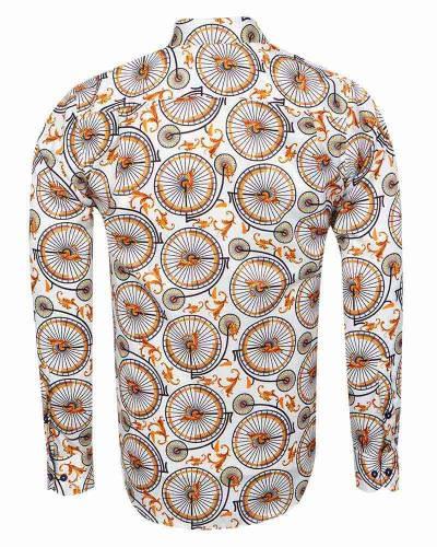 Printed Mens Satin Shirt SL 7162