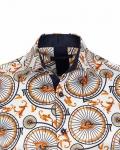 Printed Mens Satin Shirt SL 7162 - Thumbnail