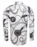 Printed Mens Satin Shirt SL 7163 - Thumbnail