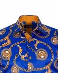 Printed Mens Satin Shirt SL 7164 - Thumbnail