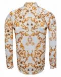 Printed Mens Satin Shirt SL 7166 - Thumbnail