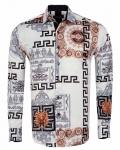 Printed Mens Satin Shirt SL 7167 - Thumbnail