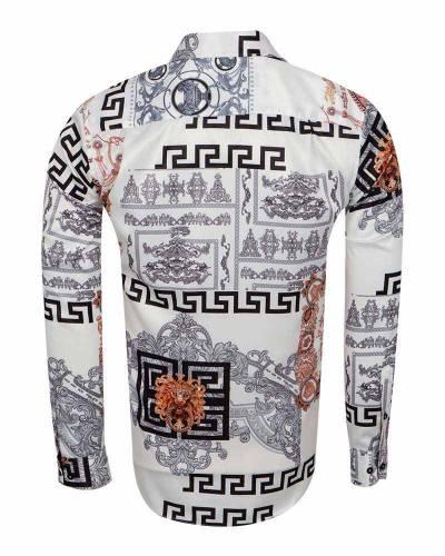 Oscar Banks - Printed Mens Satin Shirt SL 7167 (1)