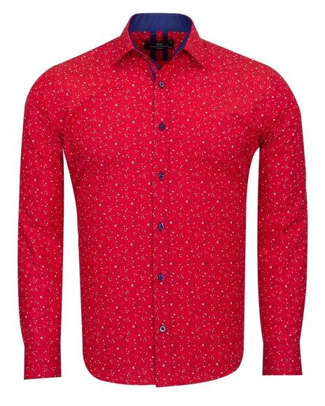 MAKROM - Pure Cotton Long Sleeved Mens Shirt SL 6810
