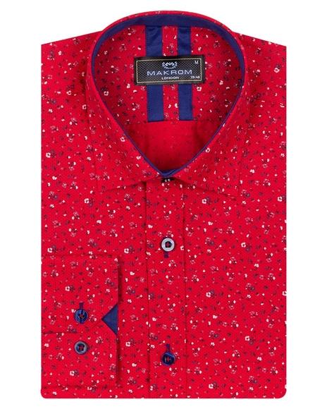 MAKROM - Pure Cotton Long Sleeved Mens Shirt SL 6810 (1)