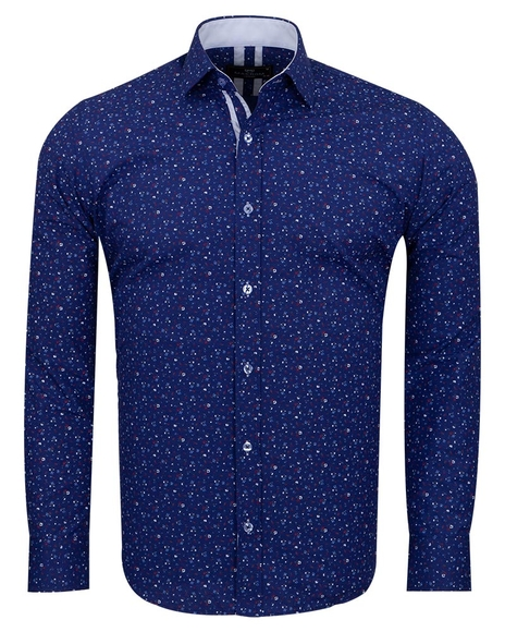 MAKROM - Pure Cotton Long Sleeved Mens Shirt SL 6810 (Thumbnail - )