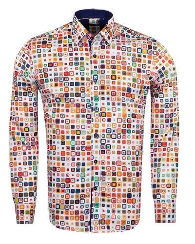 MAKROM - Shapes Printed Long Sleeved Mens Shirt SL 6931